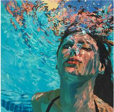 Underwater swimming pool painting