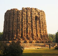 The Alai Minar, perhaps the world's greatest monument to failed self aggrandizing vanity projects. The Alai Minar was an attempt by Alauddin Khilji to build a minaret twice the size of the Qutb. He only managed to finish part of the first story before his death, and his successors never felt moved to keep going with the project. Now the weird unfinished rubble mass sits forlornly north of the mosque, ignored by the vast majority of visitors. Mehrauli. Delhi