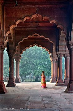 Red Fort. This is the internal view of the well-known Red Fort located in Old Delhi. (Image source: Daniel Cheong)