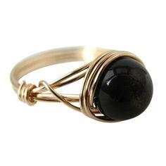 Golden Obsidian ring