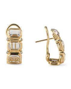 From T J Ma 18k Yellow Gold Diamond Earrings