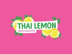 Thai Lemon Cosmetic Label Design