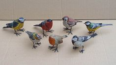 Petits oiseaux -Nicole  Aude (amazing and beautiful birds and fish  made of paper mache)