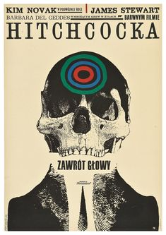 Hitchcock movie poster  1963  Polish poster design