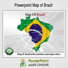 These world map powerpoint templates provide the entire overview of get the powerpoint map of brazil httppowerpointmapsonline toneelgroepblik Image collections