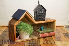 Reclaimed wood Bird House shelf by woodandfeatherstudio on Etsy, $129.72