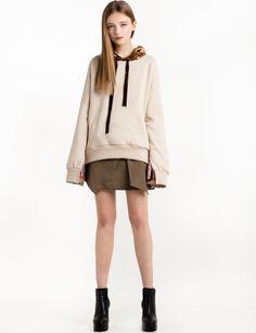 Velvet Hoodie Sweatshirt