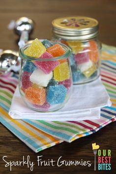 Sparkly Fruit Gummy Candy: I had so much fun making these!