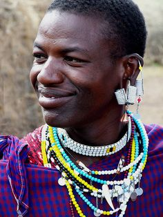Maasai Warrior, Serengeti National Park, Tanzania.  Photo: geoftheref, via Flickr