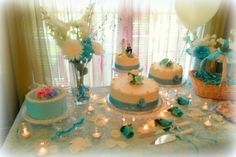 Wedding Cake Tablescape 600x400 Decorating For A Summer Wedding