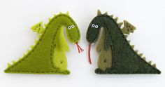 Felt dragon for princess, castle, and knight, and horse pieces flannel board