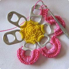 crochet soda tops