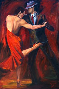 Tango Dancers Art Print on Paper, Argentine Tango Dancer in Red Dress and Shoe with Red and Black Background, Valentine gift Red And Black Background, Tango Art, Tango Dancers, Dance Paintings, Abstract Paintings, Canvas Art, Canvas Prints, Argentine Tango, Ballroom Dancing