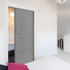 All pocket cassettes may be kerbside delivery only and not in to the home. doors are delivered separately. All doors can slide open left or right, you decide when installing them, delivery will be from two separate suppliers. Pocket Door Frame, Pocket Doors, The Doors, Panel Doors, Door Fittings, Flush Doors, Architrave, Contemporary Style, Modern