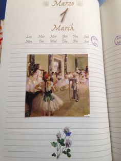 March diary illustrations