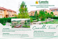 Ever wondered why families are choosing Camella Trece? Here are some of the best things that this township has to offer in exchange for your investment.  Reserve your Issa home here with Lax and Lite, and ease your payment from P49,300 to P24,700 monthly! Safety And Security, Gated Community, Issa, Serenity, Families, Posts, Messages