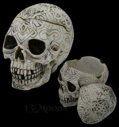 Celtic Skull Container Box