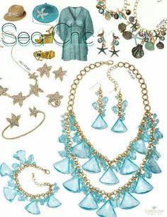 My business card shop today traci lynn fashion jewelry sea stars splash and seaside necklace sets traci lynn fashion jewelry colourmoves