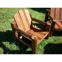 juego sillones madera tratada para exterior en