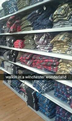I'm just going to assumes the Supernatural costuming department did a one stop shopping trip here to pick out the boy's wardrobes.