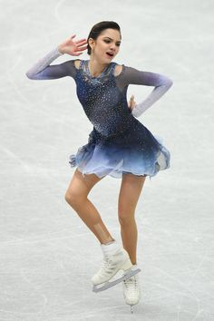 Evgenia Medvedeva of Russia competes in the ladies short program during the ISU Grand Prix of Figure Skating at on November 10 2017 in Osaka Japan