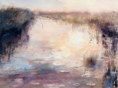Sophie Knight - beginnings of rain, dyke, salthouse   watercolour, ink on paper  75x 57cm