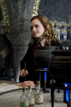 "Hermione Granger. 'In the summer of 1991, Hermione was surprised to learn that she was a witch and was invited to attend Hogwarts School of Witchcraft and Wizardry. She eagerly accepted and took to studying magic even before she began her first year at Hogwarts in the September of 1991, learning all the set spell books by heart and even managing to perform ""a few spells"" successfully.'"