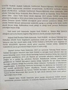 Kapaklı Gazetesi olarak 15 Temmuz Hain Darbe girişimini gerçekleştiren Fethullahçı Terör Örgütü/Paralel Devlet Yapılanması'na yönelik Tekirdağ'da vermiş olduğumuz onurlu mücadelemiz tüm baskılara, tehditlere ve engellemelere rağmen devam ediyor. Geçtiğimiz günlerde Ak Parti Tekirdağ İl Başkan Yardımcısı Av. Sevilay Bozdoğan'ın FETÖ/PDY soruşturmaları kapsamında tutuklanan bir kişinin avukatlığını yaptığı ortaya çıktı. Bizlerde Kapaklı Gazetesi olarak 'Bunlarda utanma