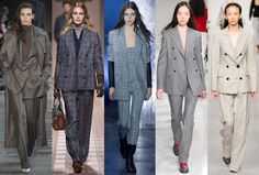 (L-R): Max Mara, Trussardi, Alexander Wang, Calvin Klein and Teatum Jones. Photos: Imaxtree Fall fashion trends 2017