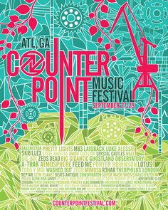 CounterPoint Music Festival Poster by SKANDREW on CreativeAllies.com