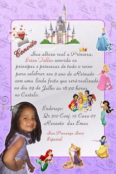 Convite de Aniversário de 3 aninhos.