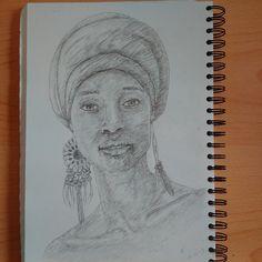 'The magic of solitude..' #Instaart #portrait #illustration #drawing #pencil #sketchbook #blackart #youngblackartists #Quiet