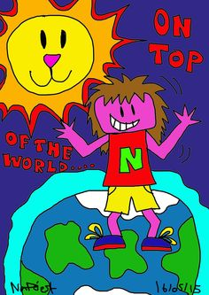 ON TOP OF THE WORLD, 2015. Created using Photoshop.