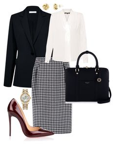 """Work"" by cgraham1 on Polyvore featuring Atea Oceanie, MaxMara, Kobi Halperin, Christian Louboutin, Henri Bendel and Rolex"