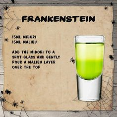 Boozy inspo for your Halloween house party...