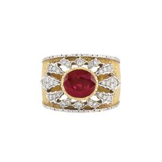 Two-Color Gold, Ruby and Diamond Ring, Mario Buccellati for Sale at Auction on Thu, 12/12/2013 - 07:00 - Important Jewelry | Doyle Auction House