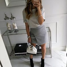 just a skirt #gray #fashion #style #stylish #ootd #look #moda #look #shirt #instamood #instagram