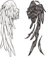 New Tattoo Designs Angel Wings Tat 20 Ideas Wing Tattoo Tattoo Drawings, Cool Drawings, Body Art Tattoos, Sleeve Tattoos, Wing Tattoos On Back, Wings Sketch, Deviantart Tattoo, Deviantart Drawings, Tattoo Ideas
