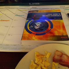 Breakfast and cissp cause my body decided I should get up early. by johngaltisdayz