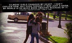 Gilmore Girls changed my heart.