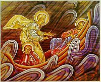 Icon reproductions can be a physical reminder of faith in your home. This icon tells the story of the storm on the Sea of Galilee. Available in various sizes; can be matted for printing or mounted on wood. Catholic online stores like Printery House have a great selection of religious gifts! printeryhouse.org, #printeryhouse