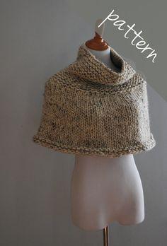 Knitting PATTERN Poncho Cape Chunky Cape by AshleyLillisHandmade, $5.50