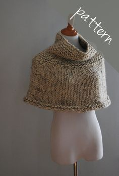 Knitting PATTERN Poncho Cape Chunky Cape by AshleyLillisHandmade, $5.50