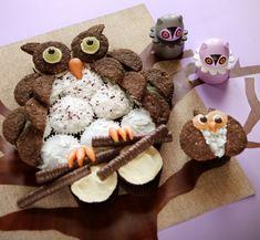 A Cuppcake blogger lányai most megmutatják, hogyan tudod elkészíteni ezt a baglyos tortát.