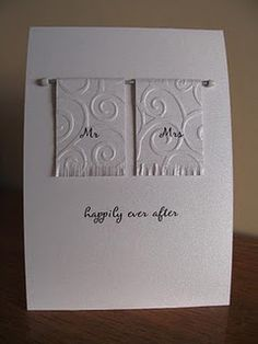 pretty much my wedding card for all future weddings!!