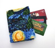 Pdf instructions credit card holder wallet pattern tutorial diy van gough wallet credit card holder organizer with 36 slots cotton fabric women ladies business card reheart Choice Image