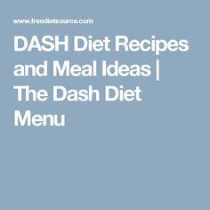 DASH Diet Recipes and Meal Ideas   The Dash Diet Menu