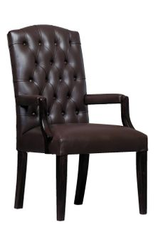 Cantebury Visitors Arm Chair In Leather | Wetherlys