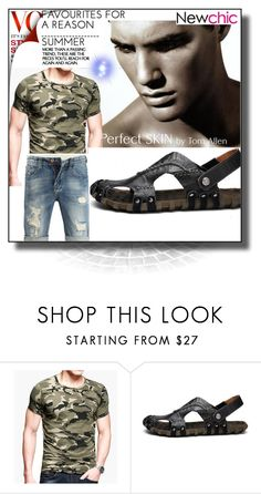 """""""Newchic 18"""" by dilruha ❤ liked on Polyvore featuring men's fashion and menswear"""