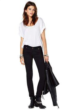 Lee PFD Black Skinny Jean